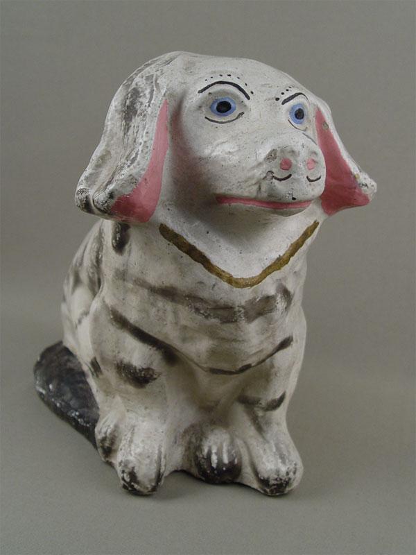 Копилка «Собака», гипс, роспись красками, высота— 23см