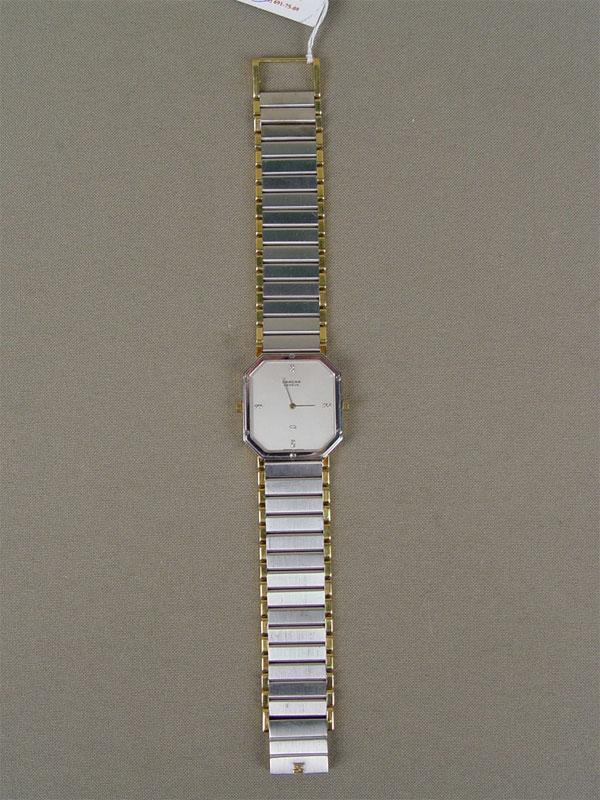Часы наручные двусторонние «Sarcar Geneve» вфутляре, золото 750пробы, общий вес— 91г