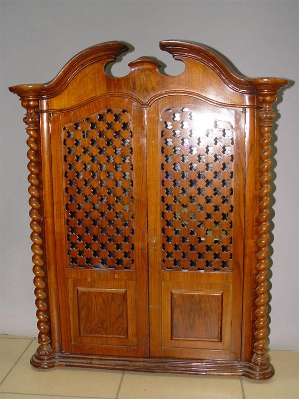 Шкаф кукольный платяной, орех, конец XIXвека, высота— 83см