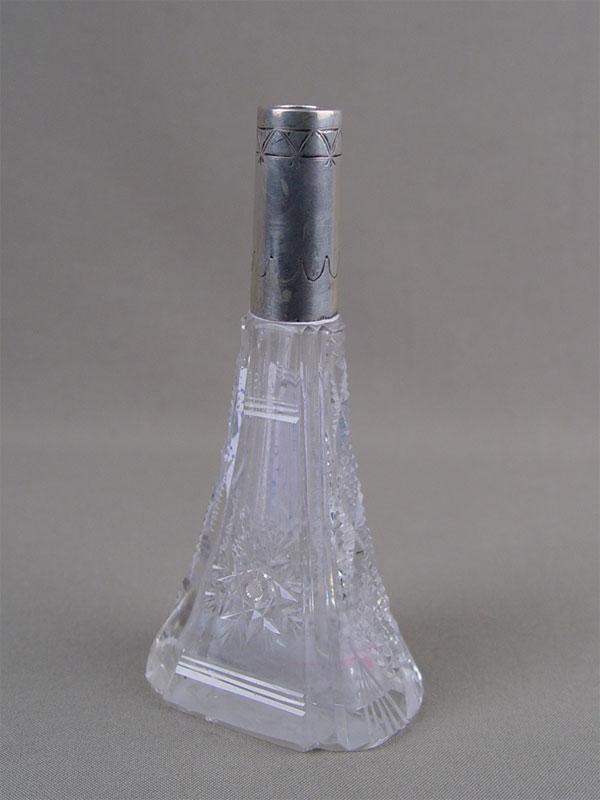 Вазочка, хрусталь, серебро 800пробы, высота— 13см