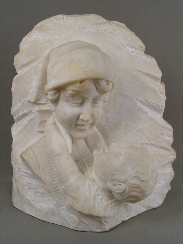 Антиквариат. «Материнство», мрамор, резьба