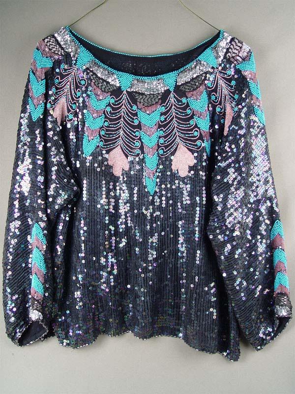 Блузка, шелк, вышивка бисером, стеклярусом, 1960—70-е гг.