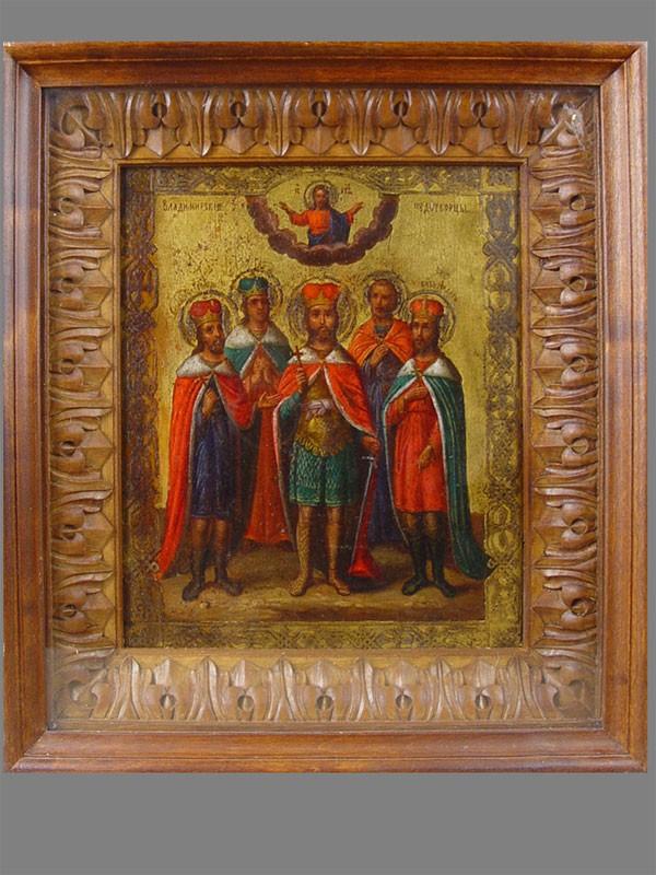 Икона вкиоте «Владимирские Чудотворцы», дерево, левкас, темпера, размер иконы: 27×22см