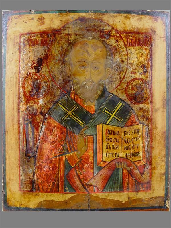 Икона «Святой Николай Чудотворец», дерево, левкас, темпера, 35×30см