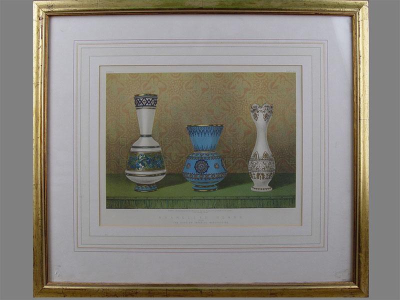 «Enamelled Glass. TheRussian Imperial Manufactory», бумага, хромолитография, 24×30см (в окне)