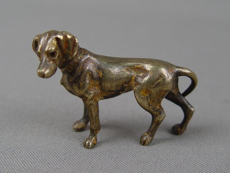 «Собака», «венская бронза», бронза, литье, длина— 3см