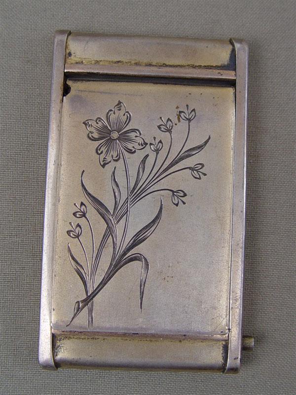 Пудреница, серебро 875пробы, гравировка, общий вес— 84,5г, 8×4,5см