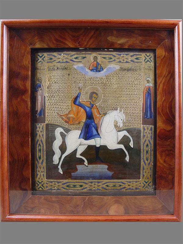 Икона вкиоте «Святой Трифон», дерево, левкас, темпера. XIXвек, размер иконы: 31×27см