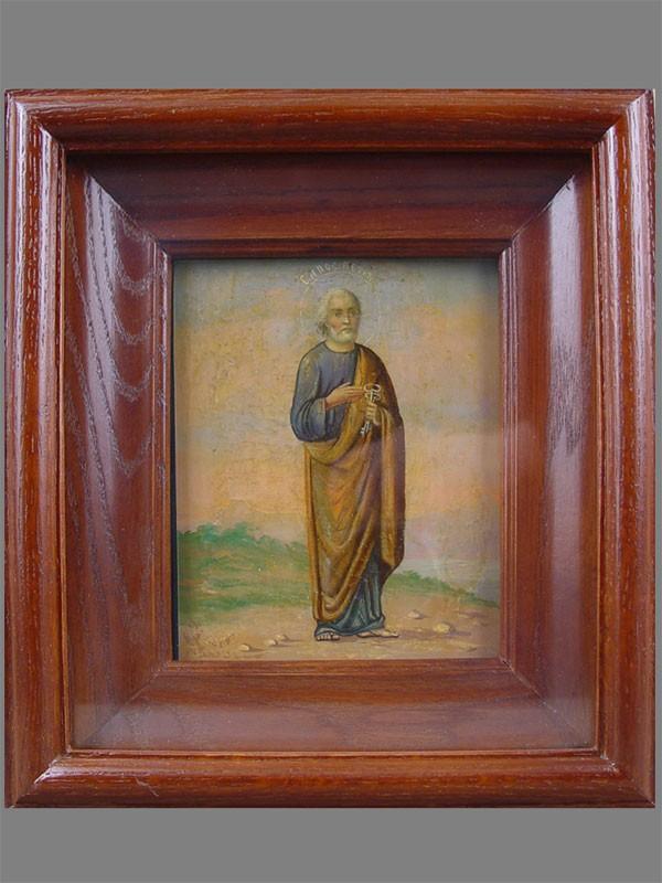 Икона вкиоте «Святой апостол Петр», дерево, масло, размер иконы: 13,5×11,5см