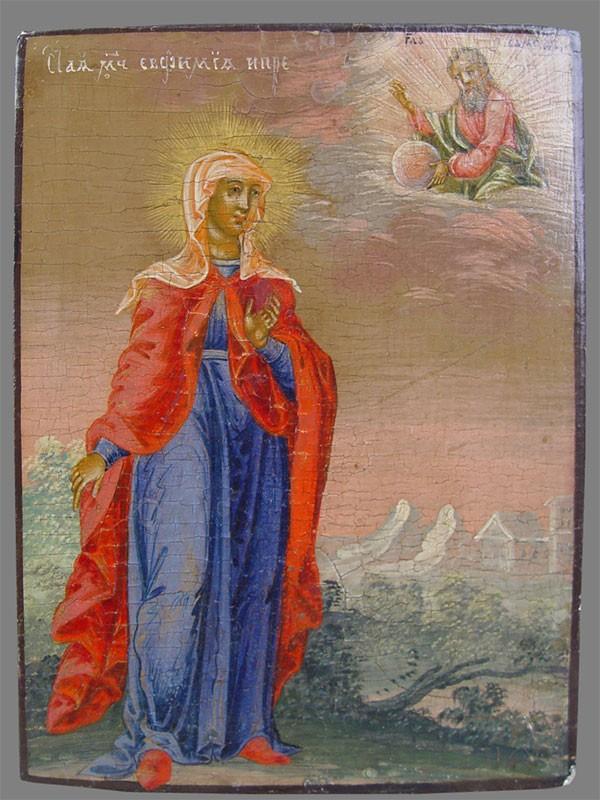 Икона «Святая Евфимия», дерево, левкас, темпера, размер: 17,5×13см