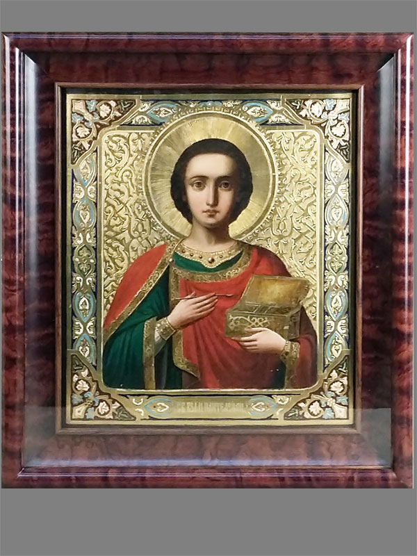 «Святой Великомученик Пантелеймон», дерево, левкас, темпера, позолота, 36×31,5см