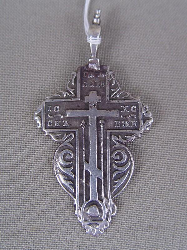 Антиквариат. Крест нательный, серебро 84 пробы