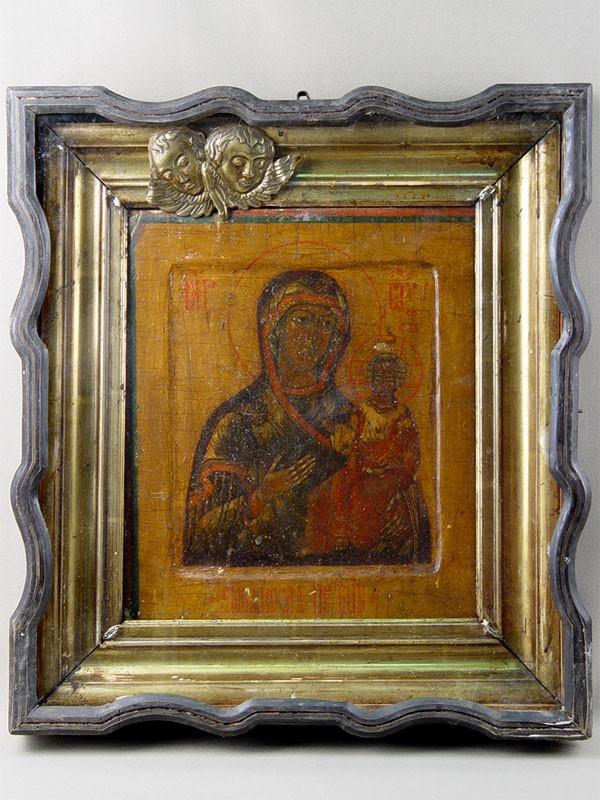 «Пресвятая Богородица Смоленская», дерево, левкас, темпера, 30×26см