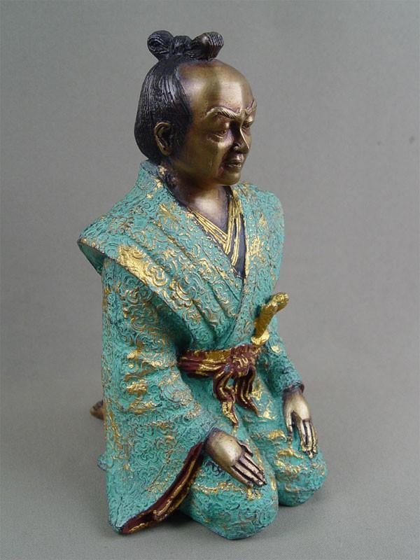 «Самурай», бронза, патинирование, высота— 21,5см