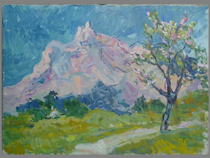 В.А.Фербер, «Гора Ай-Петри. Крым», холст, масло, 50×69см, 1962г.