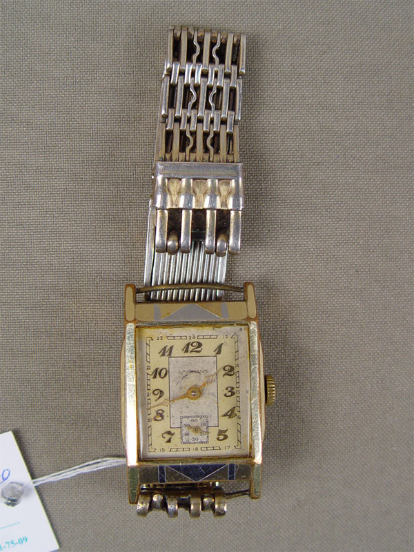 Часы наручные сбраслетом, металл, серебро 875пробы. Швейцария, середина XXвека, общий вес— 28,4г