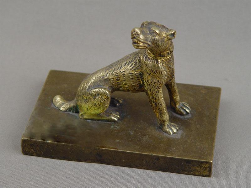 «Собака», бронза, подставка камень, высота— 10см