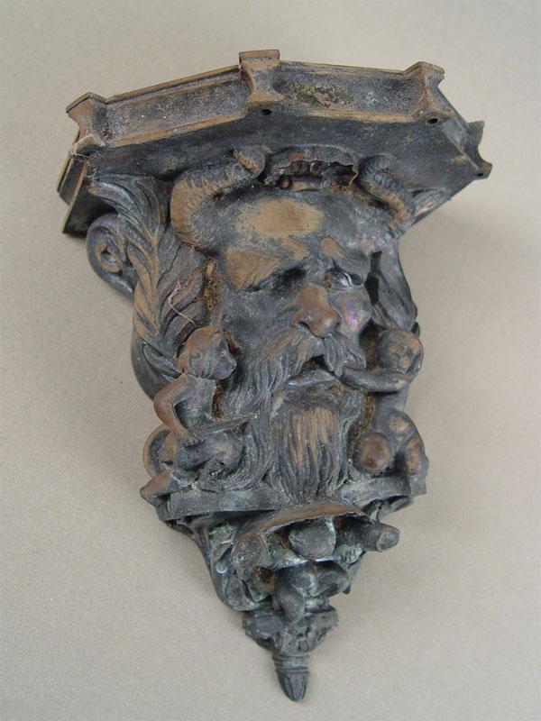 Консоль «Сатир ипутти», бронза, высота— 20см
