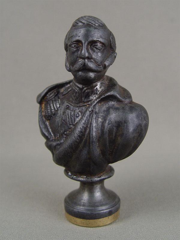 Печать «Александр Второй», чугун, высота— 9см