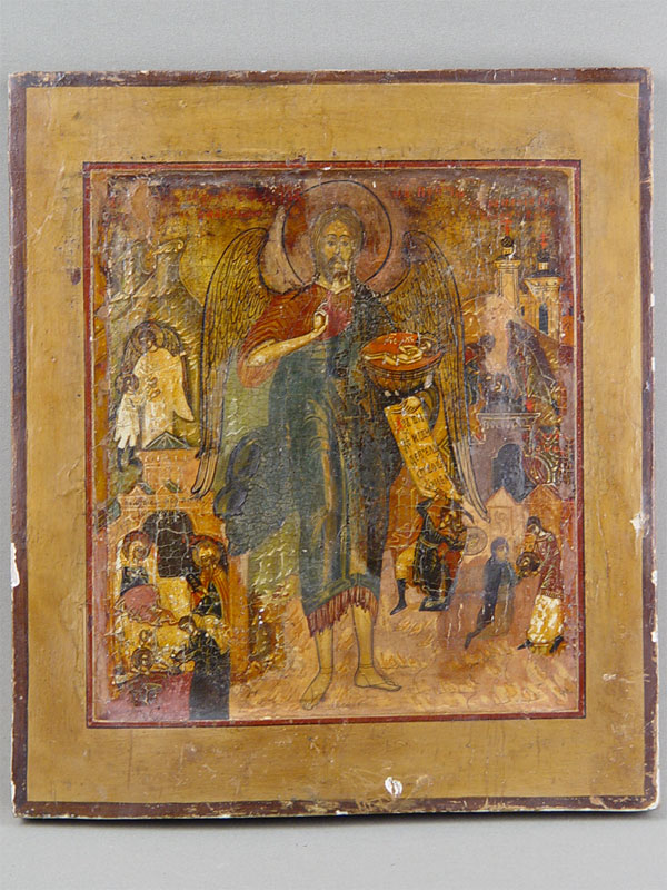 Антиквариат. «Св.Иоанн Предтеча», дерево, левкас, темпера