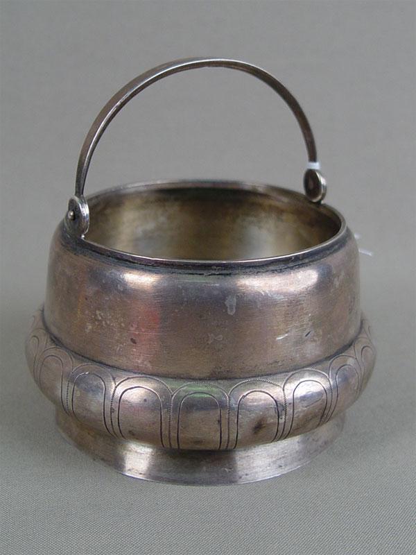 Конфетница, серебро 84пробы, гравировка, общий вес— 175г