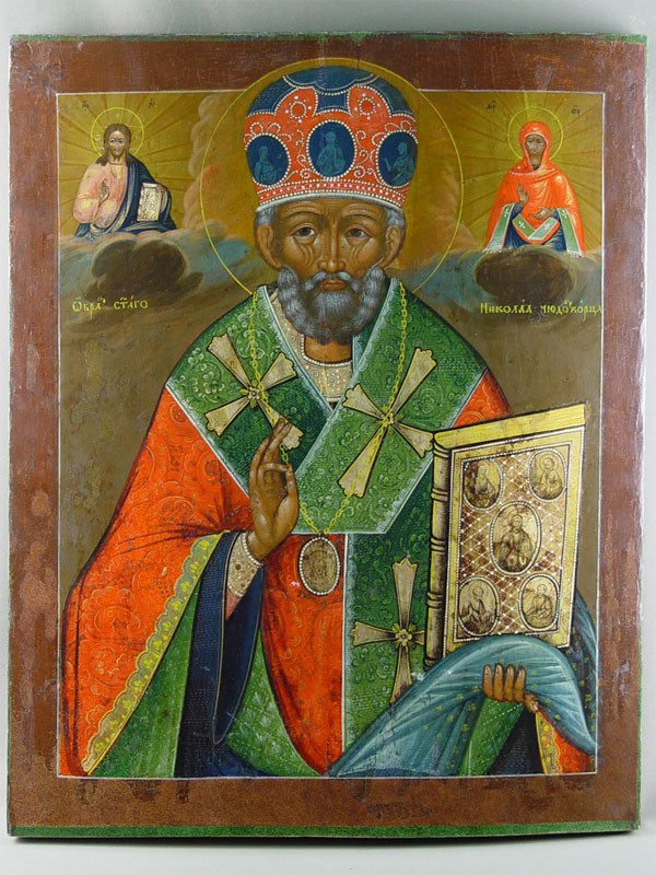 Икона «Святой Николай Чудотворец», дерево, левкас, темпера, 68,5×55,5см