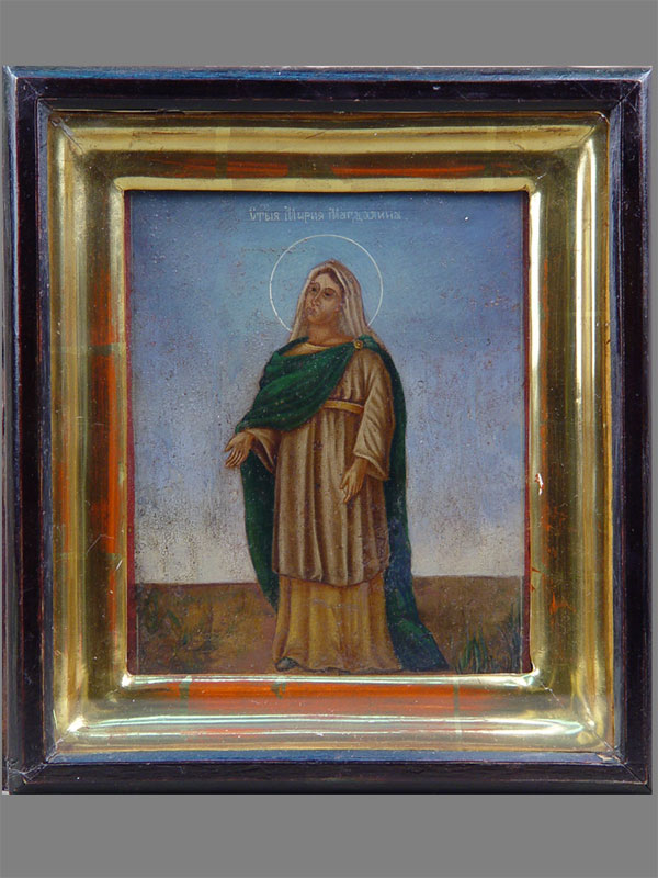 Икона в киоте «Святая Мария Магдалина», дерево, масло, 16 × 13см