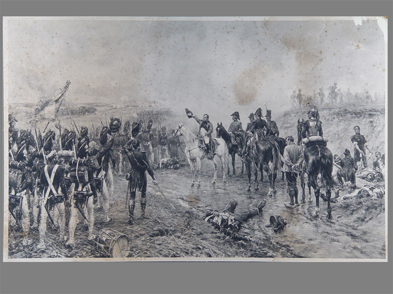 «Наполеон наполе сражения», бумага накартоне, литография, 76×49см
