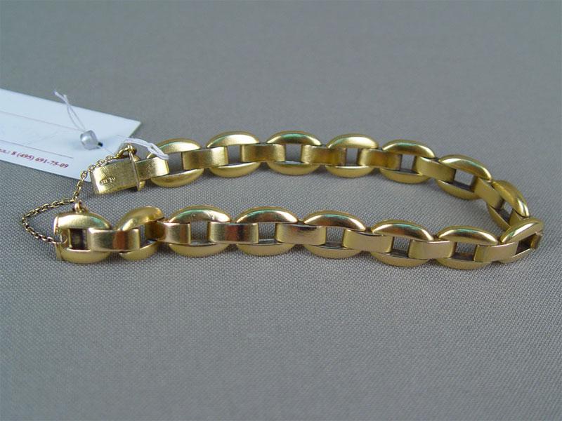 Браслет, золото 583пробы, общий вес— 30,1г