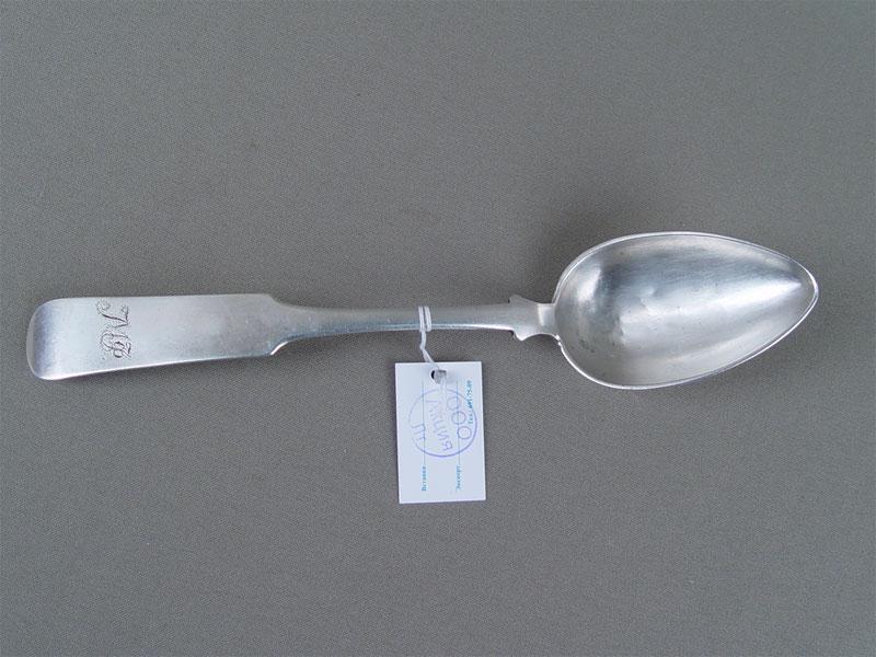 Ложка столовая, серебро 84пробы, 1852г, общий вес— 62г