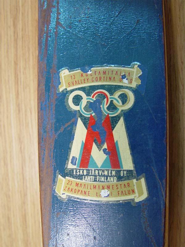 Лыжи беговые солимпийской символикой. Финляндия, 1952г.