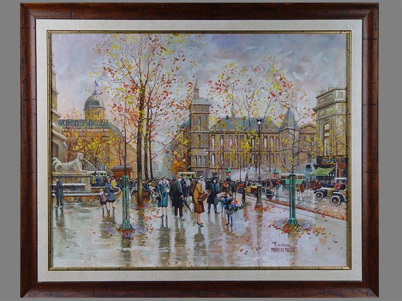 Мари де Марко, «Осень вПариже», бумага, акварель, 50×65см