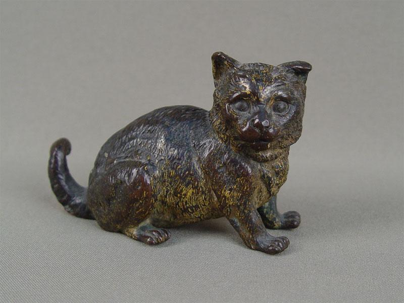 «Кошка», «венская бронза», длина— 9см