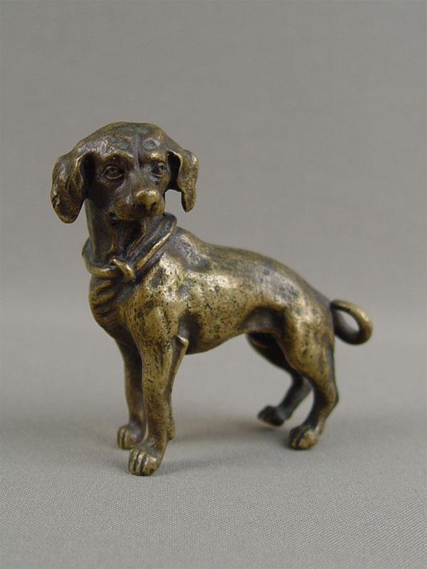 «Собака», бронза, литье, высота— 7см