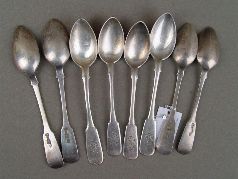 Ложки чайные (6шт.), серебро 84пробы, общий вес— 147г, 1866г.