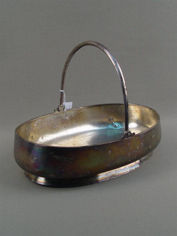 Сухарница, серебро 84пробы, общий вес— 419г