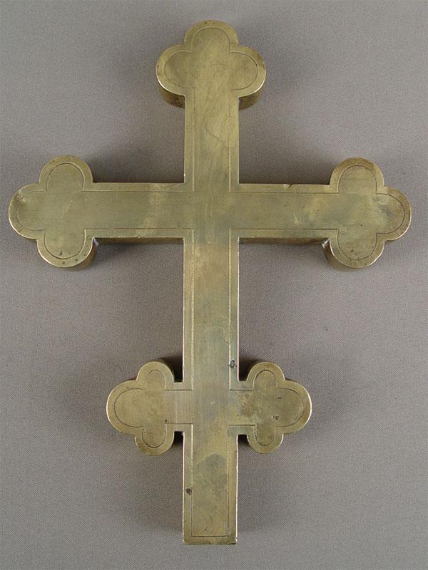 Антиквариат. Крест-навершие, латунь