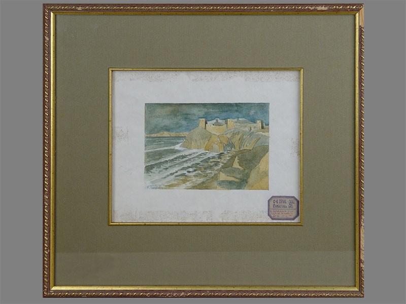 К.Богаевский(?), «Крым. Таврия», бумага, акварель, 1911год, размер (вокне): 12×17см