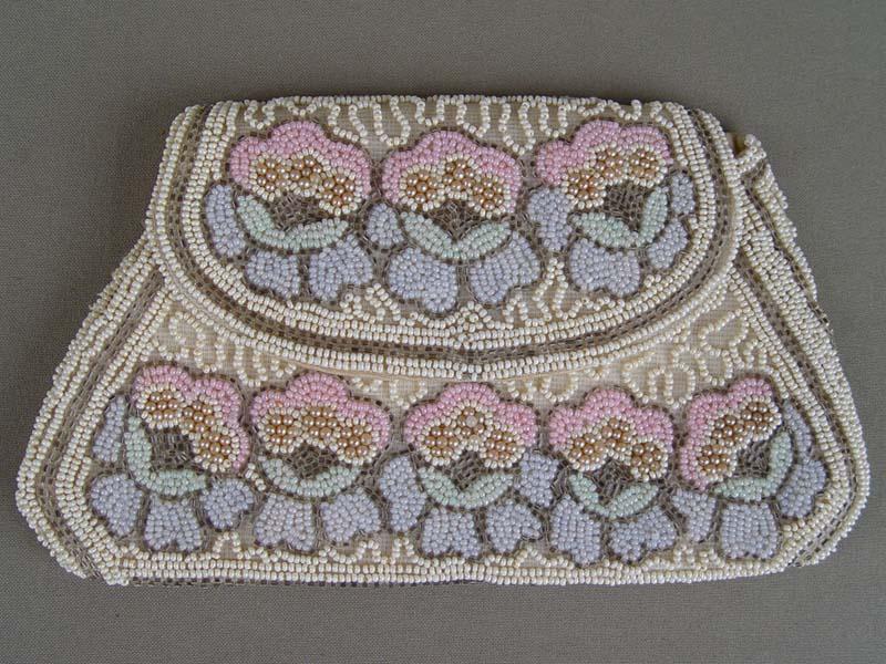 Кошелек-сумочка, бисер, началоXXвека, размер: 11×20см