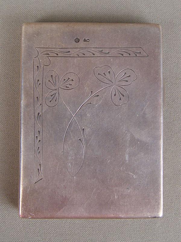Пудреница, серебро 875пробы, гравировка, общийвес— 99г, размер: 7×5см