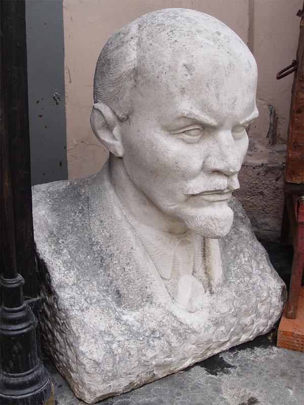 Антиквариат. Бюст «В.И.Ленин», мрамор. СССР
