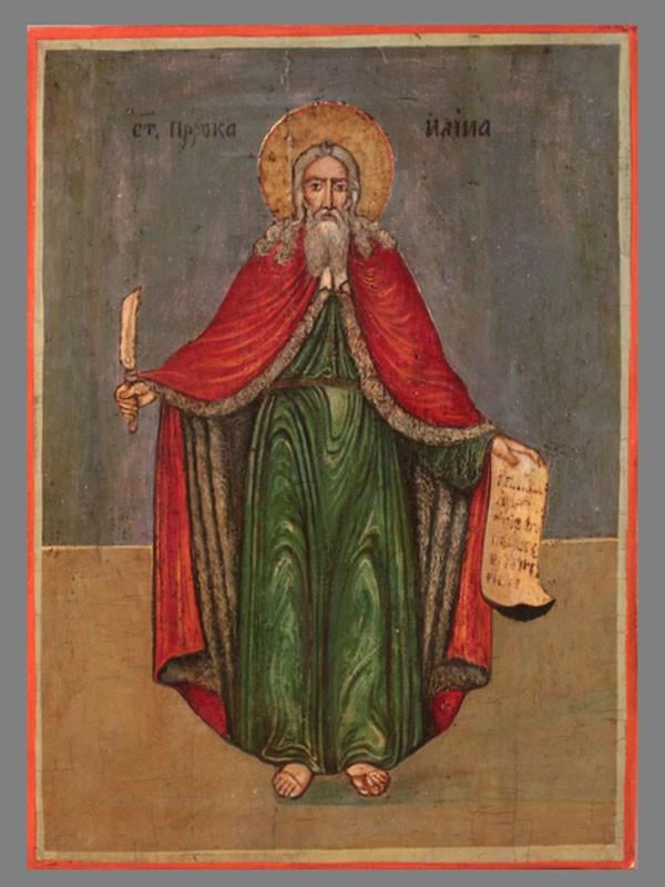 Икона «Святой Пророк Илия», конец XVIII— начало XIXвека, размер: 40×29,5см
