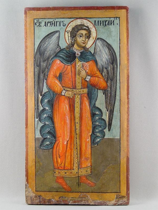 Икона «Святой Архангел Михаил», дерево, левкас, темпера. Кострома, конец XVIIвека, размер: 58,5×31,5см.