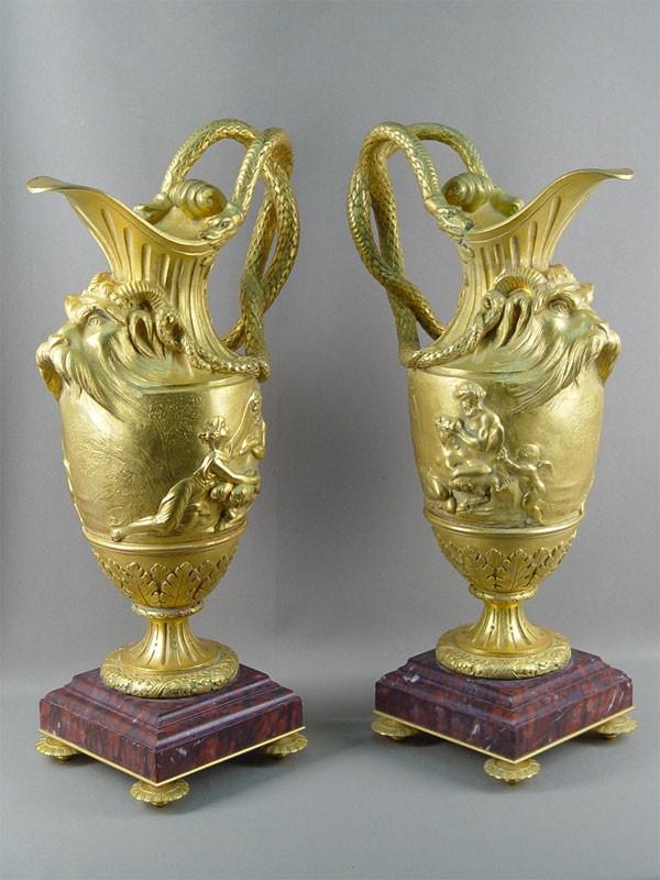 Антиквариат. антикварные бронзовые декоративные вазы, античная мифология, миф