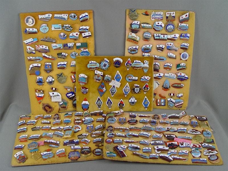 Коллекция морских наградных ипамятных знаков <nobr>1950—1980-х</nobr>годов (350шт.)