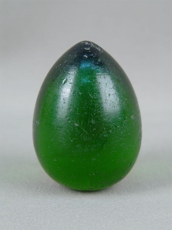 Антиквариат. антикварное стеклянное Пасхальное яйцо