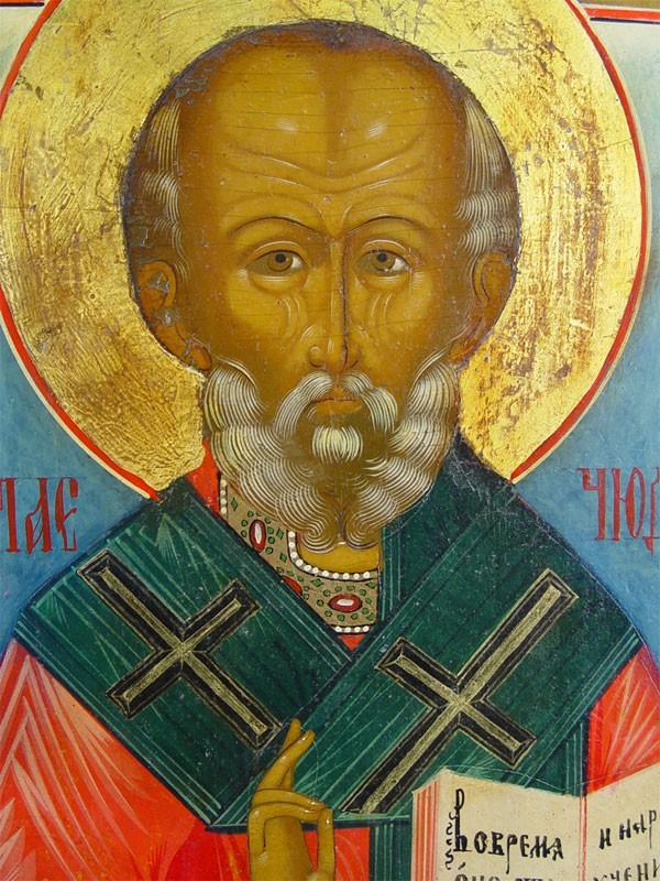 Икона «Святой Николай Чудотворец», дерево, левкас, темпера. Мстера, начало XIXвека, размер: 36×30см