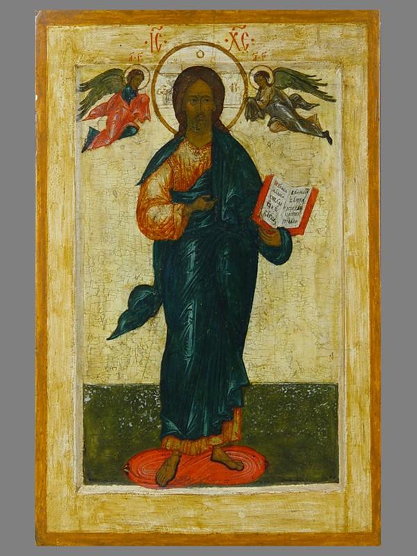 Икона «Спас Смоленский», дерево, левкас, темпера. Москва, <nobr></noscript>1570-е</nobr>— <nobr> 1580-е</nobr> гг, размер: 36×23,5см.