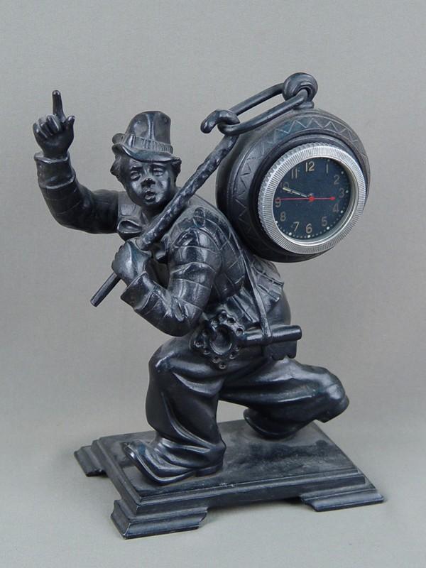 Антиквариат. антикварный Подчасник. часы «Клоун», каслинское чугунное литье