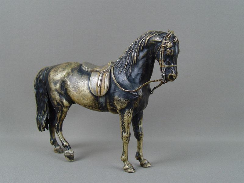 Скульптура «Конь оседланный», бронза, литье, длина— 23см